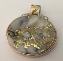 Gold in Quartz Pendant