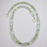 Beryl gold necklace