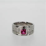 Ruby palladium ring