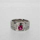 Ruby palladium ring