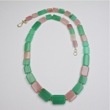 Chrysoprase garnet necklace