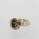 Diamond platinum gold ring