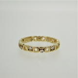"""Micro windows"" diamond gold band"