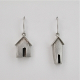 """Alley shack"" silver earrings"