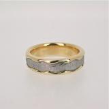 Meteorite gold band