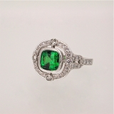 Tsavorite garnet white gold ring