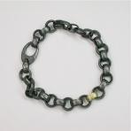 Silver gold link bracelet