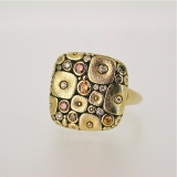 """Cushion shaped"" diamond gold ring"
