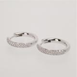 Diamond gold hinged earrings